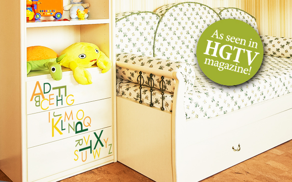 As seen in the HGTV magazine - Wall letters for childrens rooms