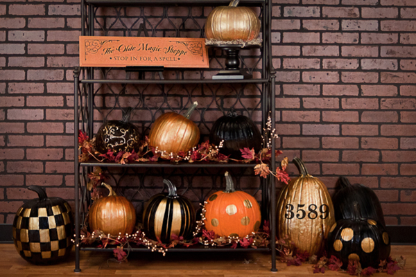 Start By Cleaning And Drying Each Pumpkin You Can Then Use Spray Paint We Used Black Metallic Gold Or Acrylic Which Find At Craft