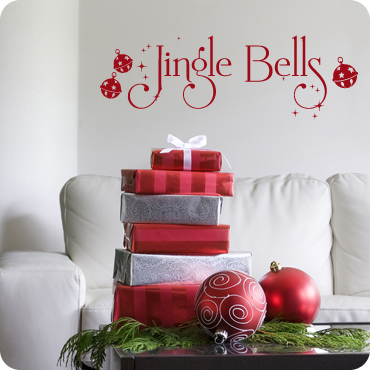Jingle Bells & Christmas Wall Decals and Wall Art | Holiday Themed Wall Decals