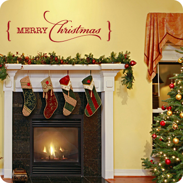 Christmas Wall Decals and Wall Art | Holiday Themed Wall Decals