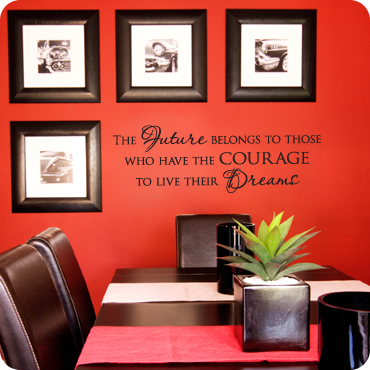 wall decal for office. Courage To Live Their Dreams Wall Decal For Office F