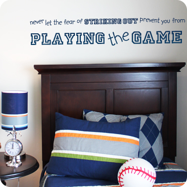 Never Let Striking Out Keep You From Playing (Kidprint)