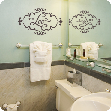 The Loo  Delicate Diamond Shaped Frame. The Loo Wall Decal   Perfect Wall Quote For Bathroom
