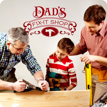 Dad's Fix-It Shop (Sign Style)