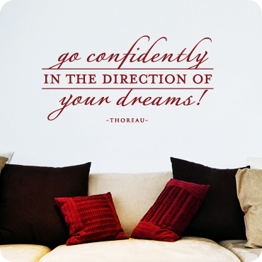 Go Confidently In Direction of Dreams (Elegant)