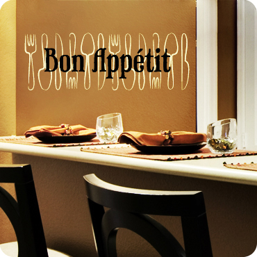 Bon Appetit (Utensil Background)