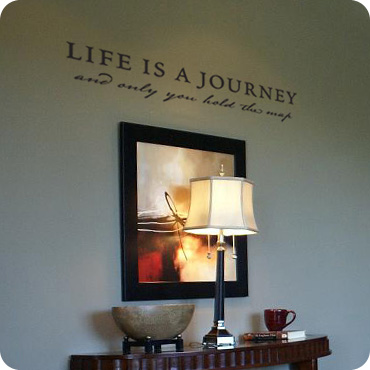 life is a journey amazing wall quotes office