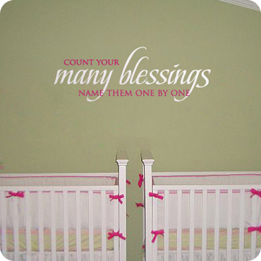 Count Your Blessings (Two Color Version) & Religious Wall Decals Quotes and Sayings | WallWritten