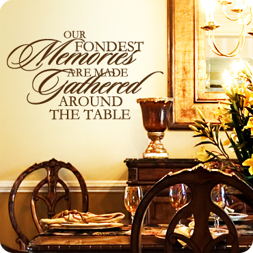 Memories Are Made Gathered Around the Table