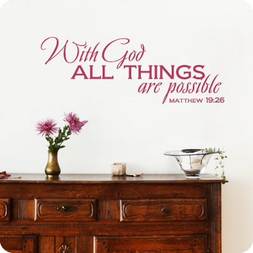 With God All Things Are Possible (Staggered Version)