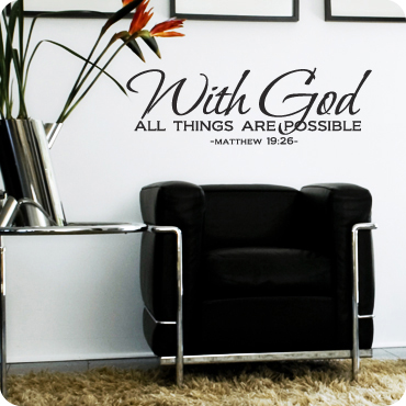 With God All Things Are Possible (Centered Version)