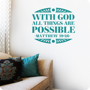 With God All Things Are Possible (Block Version)