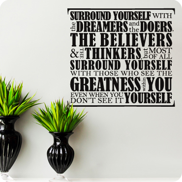 Surround Yourself With Dreamers (Block Version)