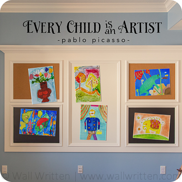 Every Child Is An Artist Brush Drawn Version