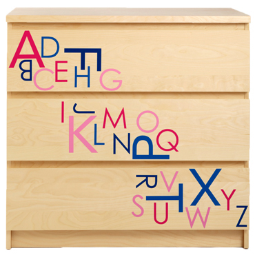 As Seen In HGTV Magazine - Alphabet Letters