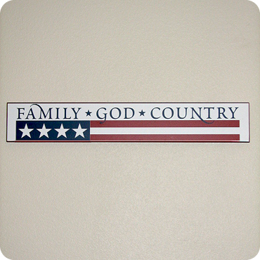 Family - God - Country