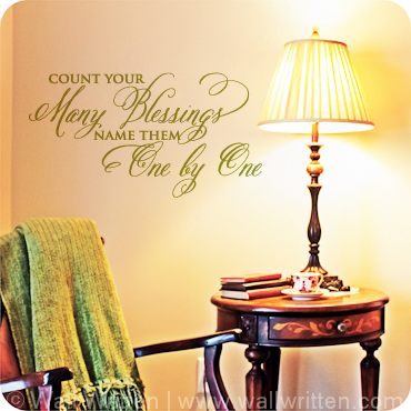 Nursery Room Wall Quotes, Art, Lettering & Sayings| Wall Written