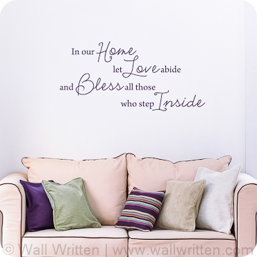 entryway wall decals, quotes and sayings | wallwritten