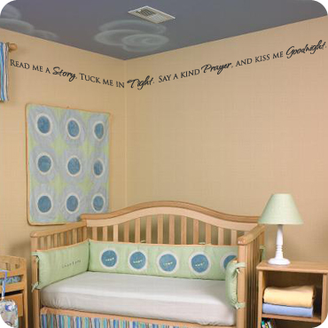 nursery room wall quotes art lettering sayings wall written