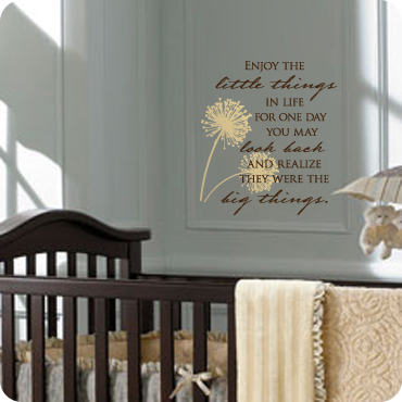 Enjoy the Little Things & Living Room Wall Decals | Wall Quotes and Sayings