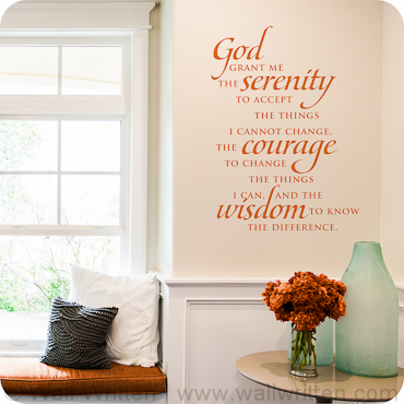 Serenity Prayer. Bedroom Wall Quotes  Sayings and Decals   Wall