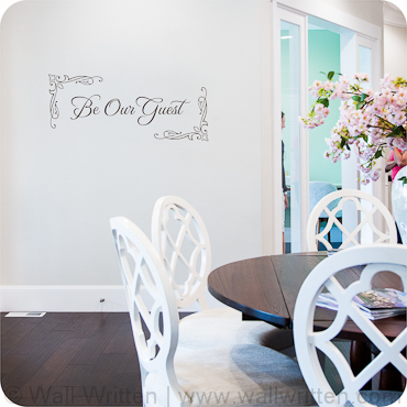 Be Our Guest  Frame version. Bedroom Wall Quotes  Sayings and Decals   Wall