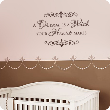 A Dream Is A Wish Your Heart Makes Wall Quote Decal
