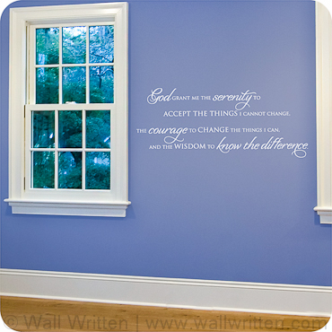 Serenity Prayer  Horizontal Version. Bedroom Wall Quotes  Sayings and Decals   Wall