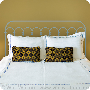 Decorative Barred Headboard