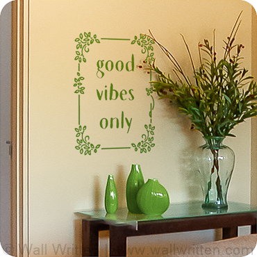 Good Vibes Only (Floral Frame)
