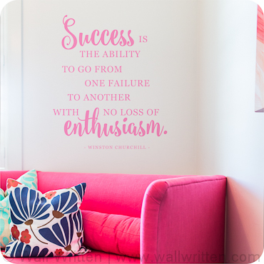 Success With Enthusiasm (Vertical Version)