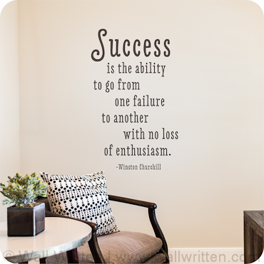 Success With Enthusiasm (Single Font Option)