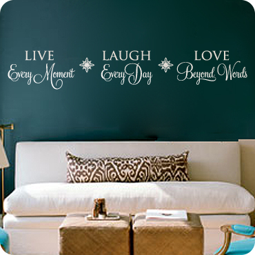 Living room wall decals wall quotes and sayings for Living room quote stickers