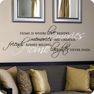 Wall quotes words letters decals sayings vinyl for Small room quotes
