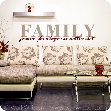 Family - No Matter What (Horizontal Version)