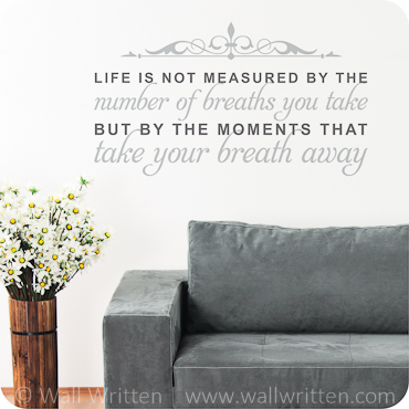 Life is Measured (top embellishment)