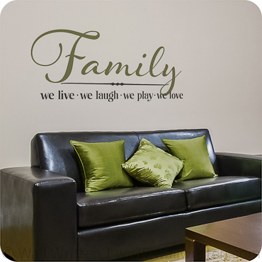 Family - We Live We Laugh We Love
