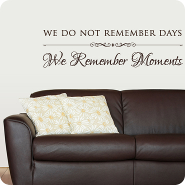 We Remember Moments (With Embellishment)