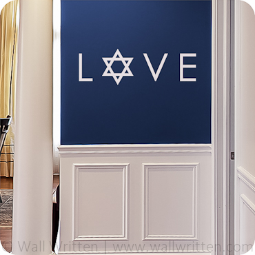 LOVE (with Star of David)
