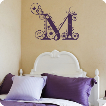Fancy Floral Monogram M
