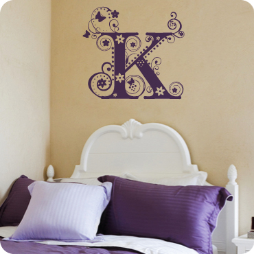 Fancy Floral Monogram K