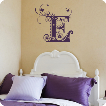 Fancy Floral Monogram E