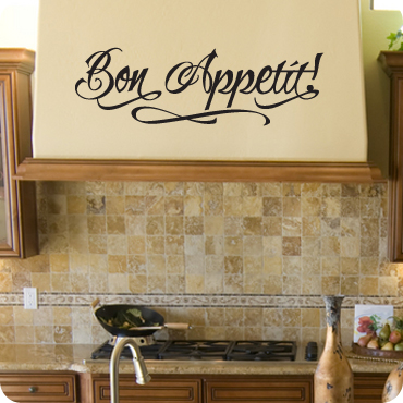 Bon Appetit! (Free Hand Version) & Kitchen Wall Decals Quotes and Sayings | WallWritten.com
