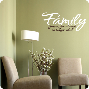 Family wall decal wall d cor about family for Living room quote stickers