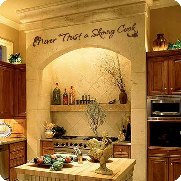 Kitchen Wall Decals Quotes And Sayings WallWrittencom - Vinyl decals for kitchen walls