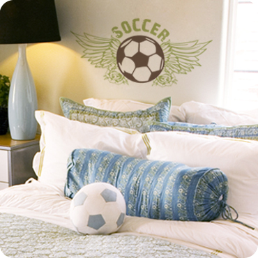 Soccer Ball (Wings and Roses)
