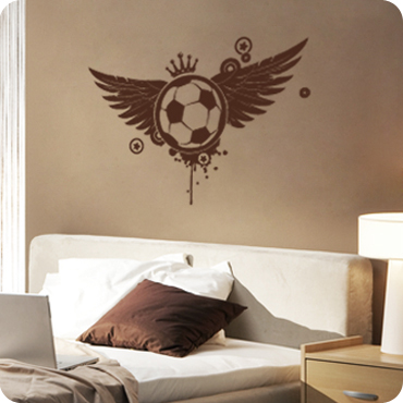 Soccer Ball With (Wings Crown)
