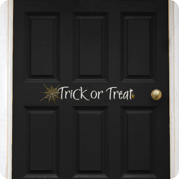 Trick Or Treat With Spider & Spiderweb