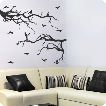 Lovely Spooky Branches With Birds