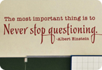 The Most Important Thing is to Never Stop Questioning